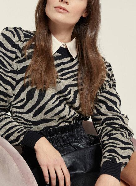 Пуловер с буфан ръкав Motivi