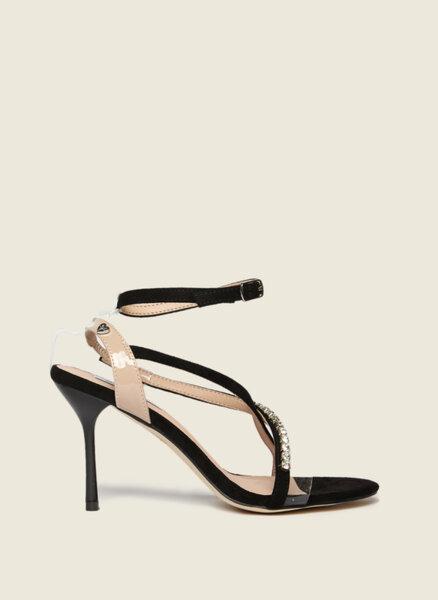 Обувки на ток с декоративни кристали Motivi