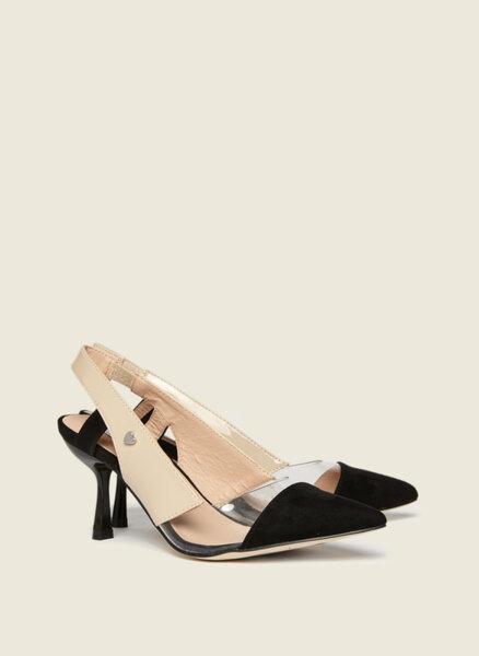 Обувки на ток с 'Color block' детайл Motivi