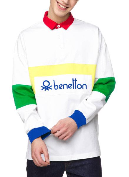 Полошърт с контрастна яка Benetton