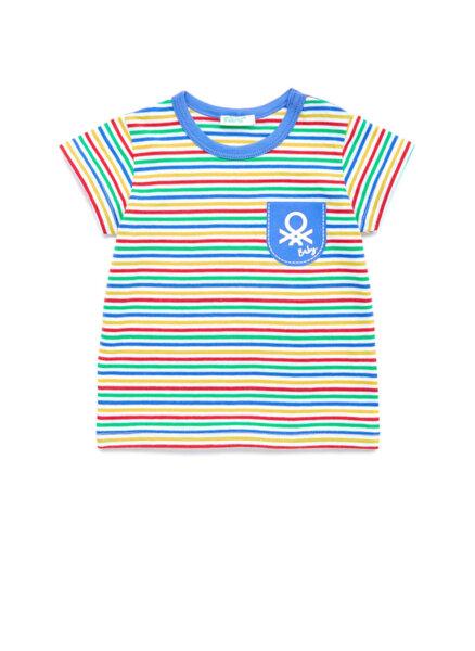 Тениска в райе Benetton