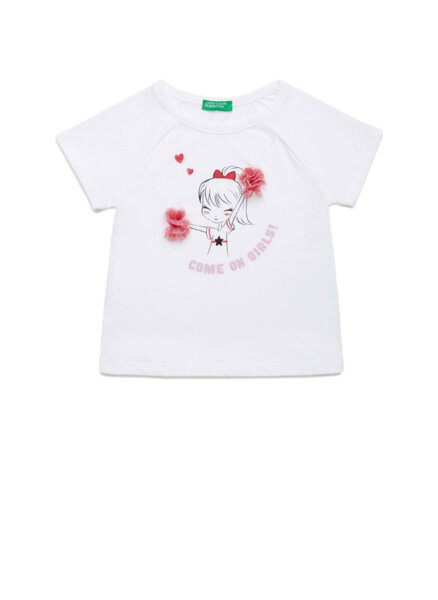 Тениска с апликация Benetton