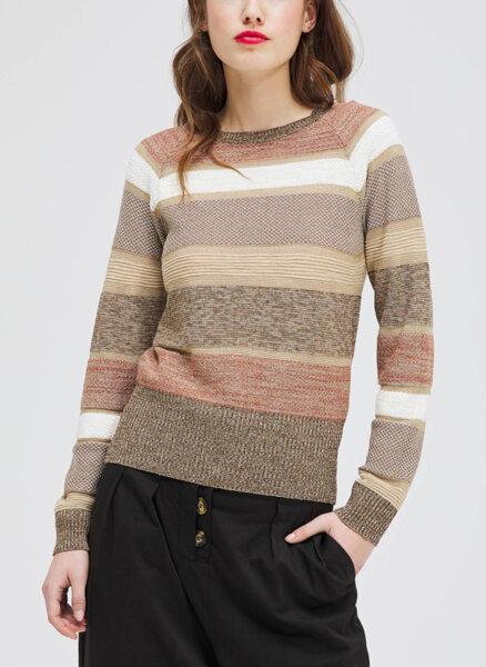 Пуловер с ламе Sisley