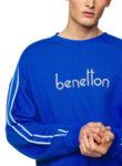Суетшърт с бродирано лого Benetton