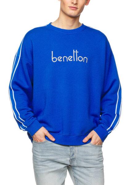 Суитшърт с бродирано лого Benetton