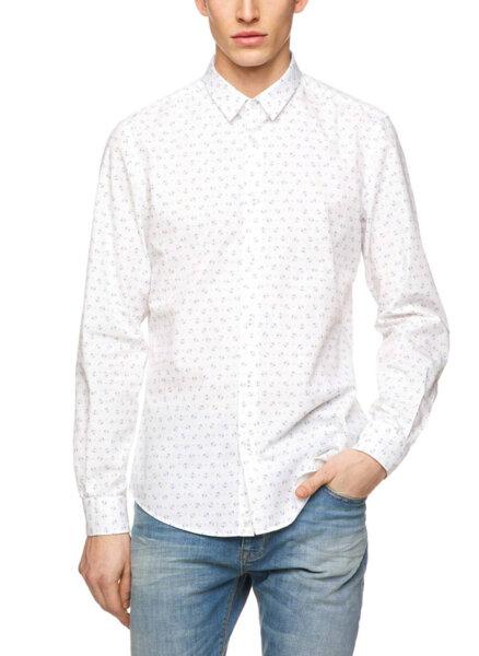 Риза с цялостен принт Benetton