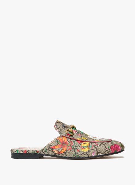 Обувки тип 'slipper' Princetown GG Flora Gucci