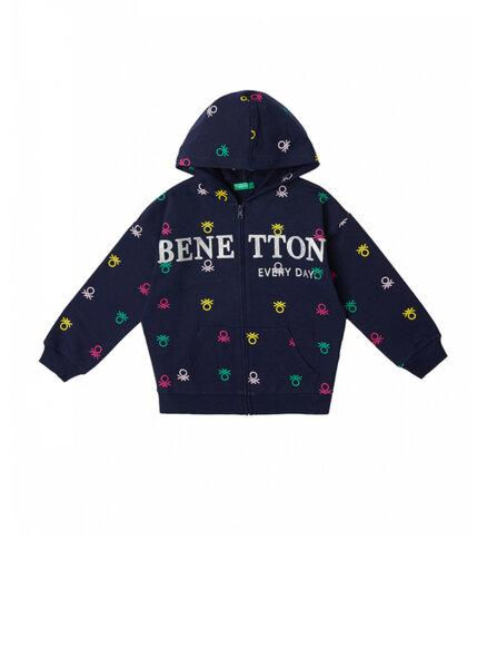 Суетшърт с лого принт Benetton