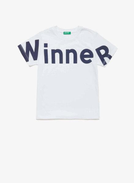 Тениска с принт Benetton Junior