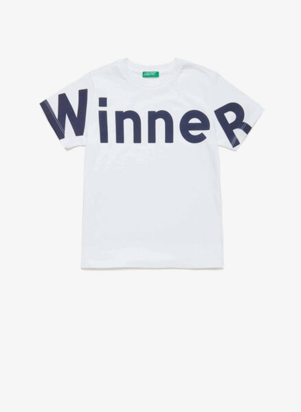 Тениска с принт Benetton