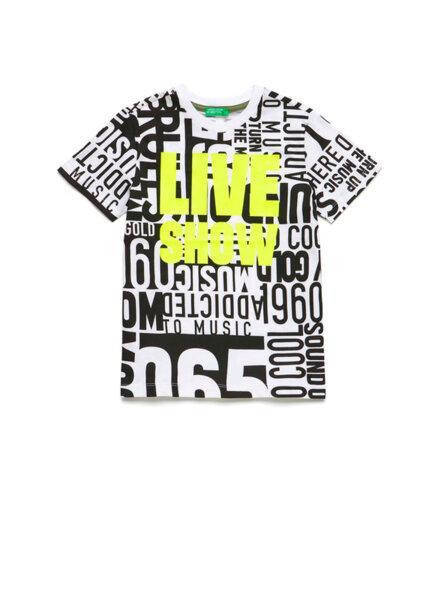 Тениска с цялостен принт Benetton