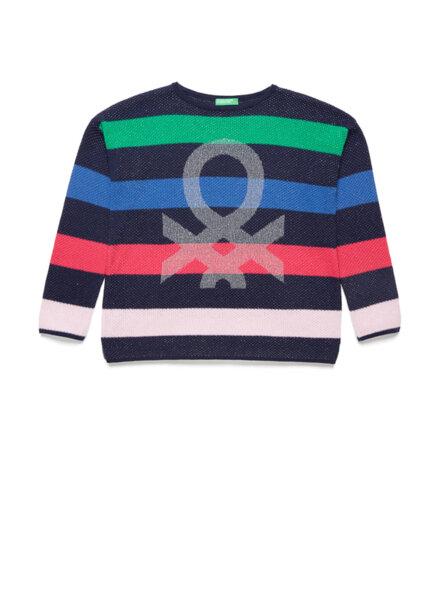 Пуловер с тематичен дизайн Benetton
