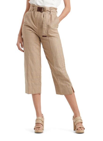 Кариран панталон със скъсена дължина Marc Cain Collections