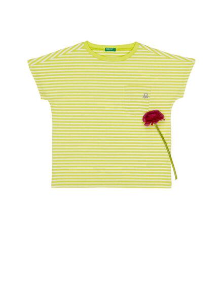 Тениска с райе Benetton Kids