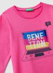 Блуза с двулицеви пайети Benetton-Copy