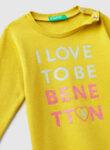 Блуза с лого принт Benetton-Copy