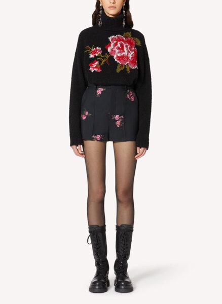 Флорален къс панталон от габардин Red Valentino