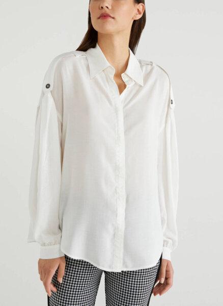 Риза с ленти на раменете Benetton