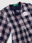 Разкроена карирана блуза Benetton
