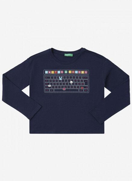 Блуза с тематичен принт Benetton Kids