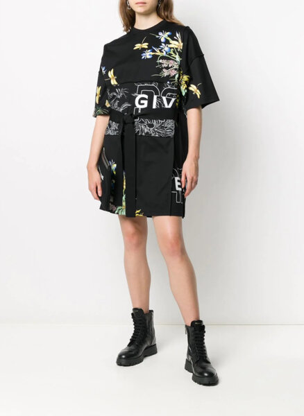 Флорална Т-шърт рокля Givenchy