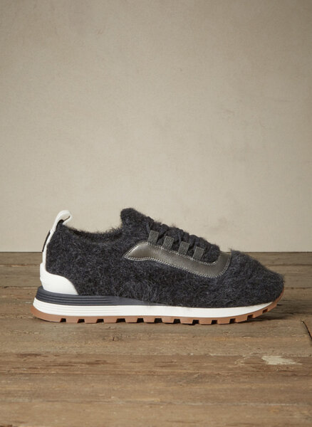 Спортни обувки `Furry Knit` Brunello Cucinelli