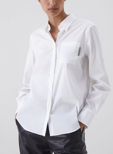 Класическа риза с монили Brunello Cucinelli