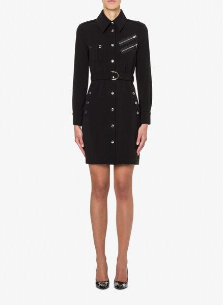 Риза-рокля с метални детайли Boutique Moschino