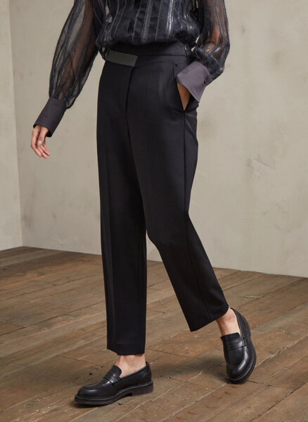 Панталон с монили колан Brunello Cucinelli