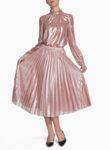 Плисирана пола с метален ефект Pennyblack