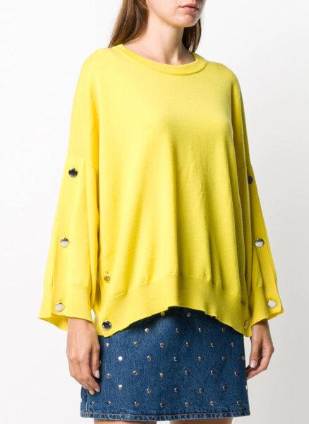 Пуловер със сребристи копчета Boutique Moschino