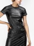 Блуза от кожа с кристали Nº21