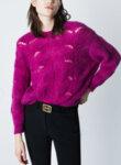 Пуловер от релефно плетиво Marella Sport Odilia