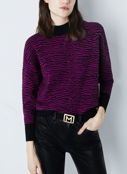 Жакардов пуловер Marella Sport Tiglio