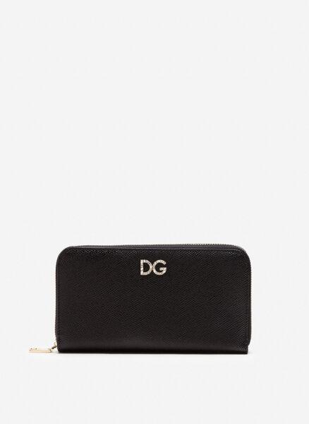 Портфейл с лого с кристали Dolce&Gabbana