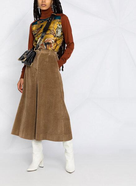 Панталон от памучно кадифе Dolce&Gabbana