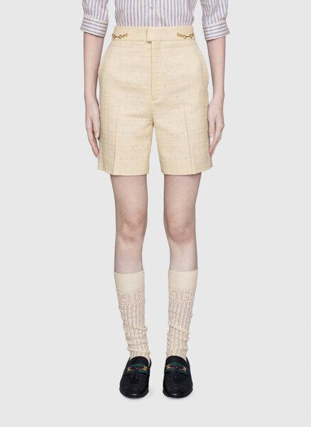 Къс панталон от туид Gucci