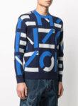 Жакардов пуловер с бранд лого Kenzo-Copy