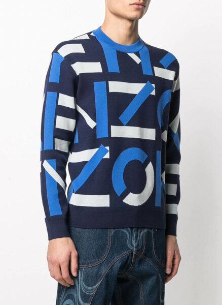 Пуловер с лого принт Kenzo