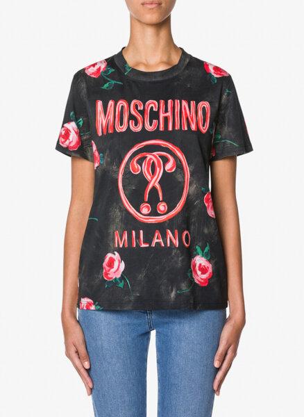 Тишърт с лого Moschino