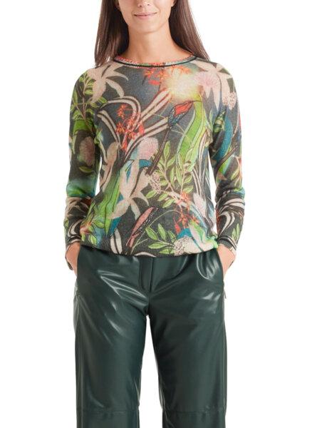 Пуловер с флорален принт Marc Cain