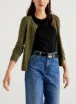 Пуловер с къс ръкав Benetton-Copy