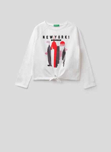 Блуза от памук с принт Benetton Junior