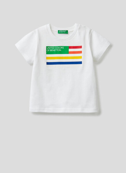 Тишърт от органичен памук Benetton Kid