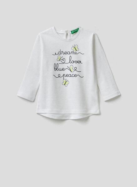 Блуза от органичен памук Benetton Kid