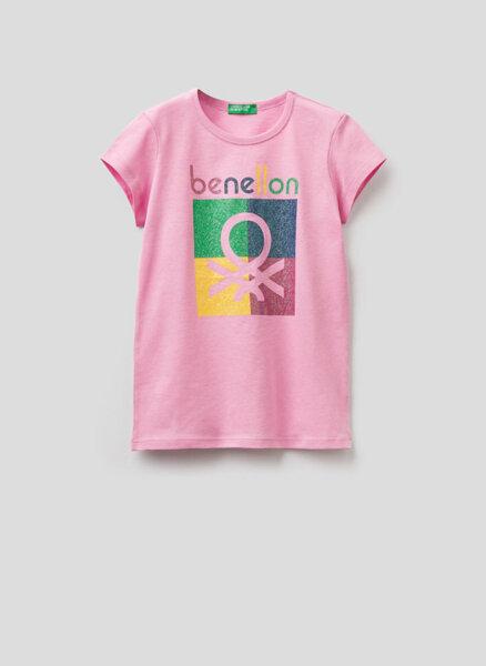 Тишърт с принт Benetton Junior
