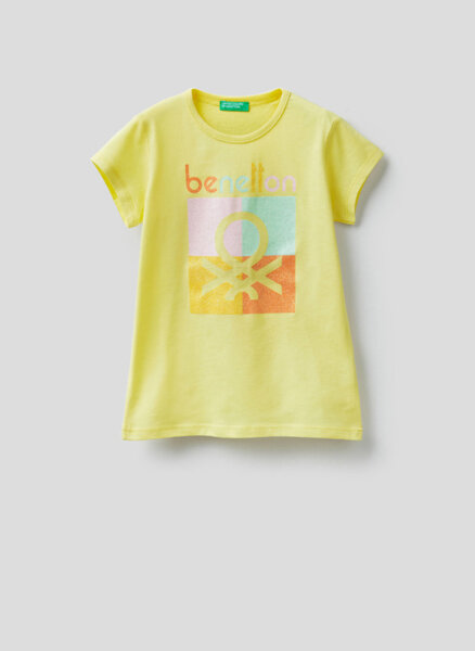 Тишърт с принт Benetton Junior