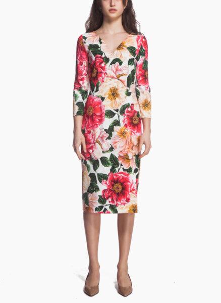 Рокля с флорален принт Dolce&Gabbana