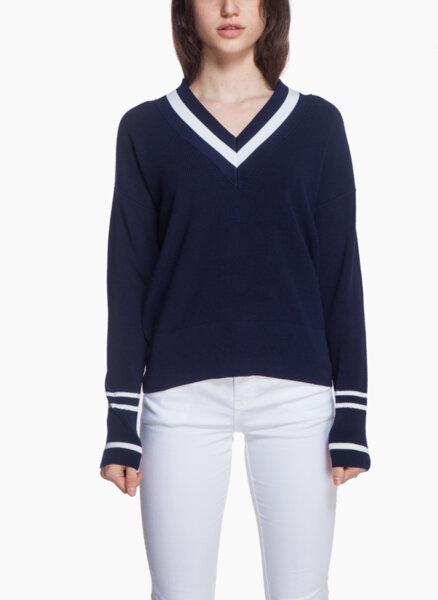 Пуловер с V - образно деколте Marella Niger