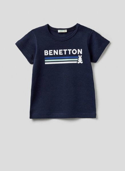 Тишърт с принт Benetton New Born